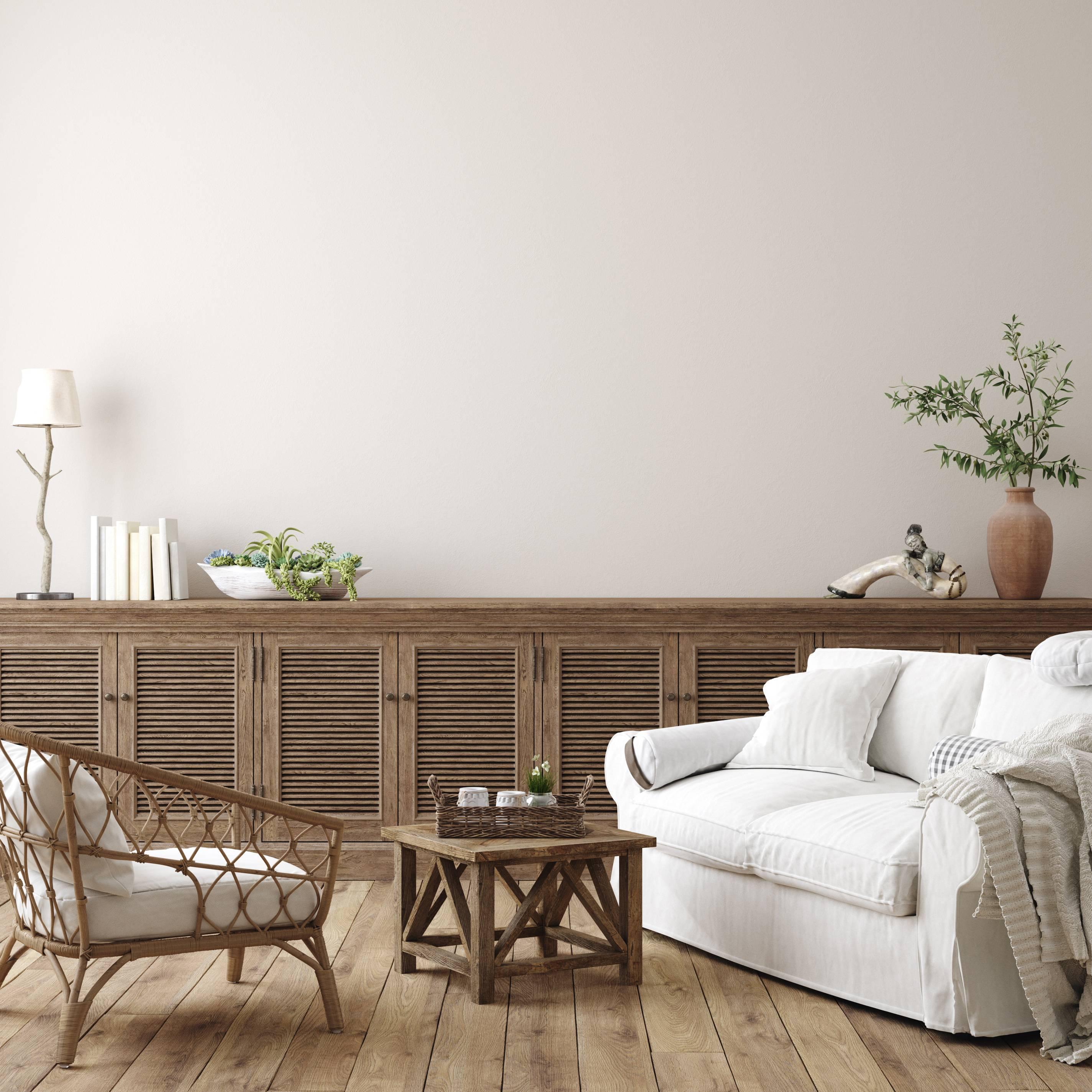 salon décoration bois