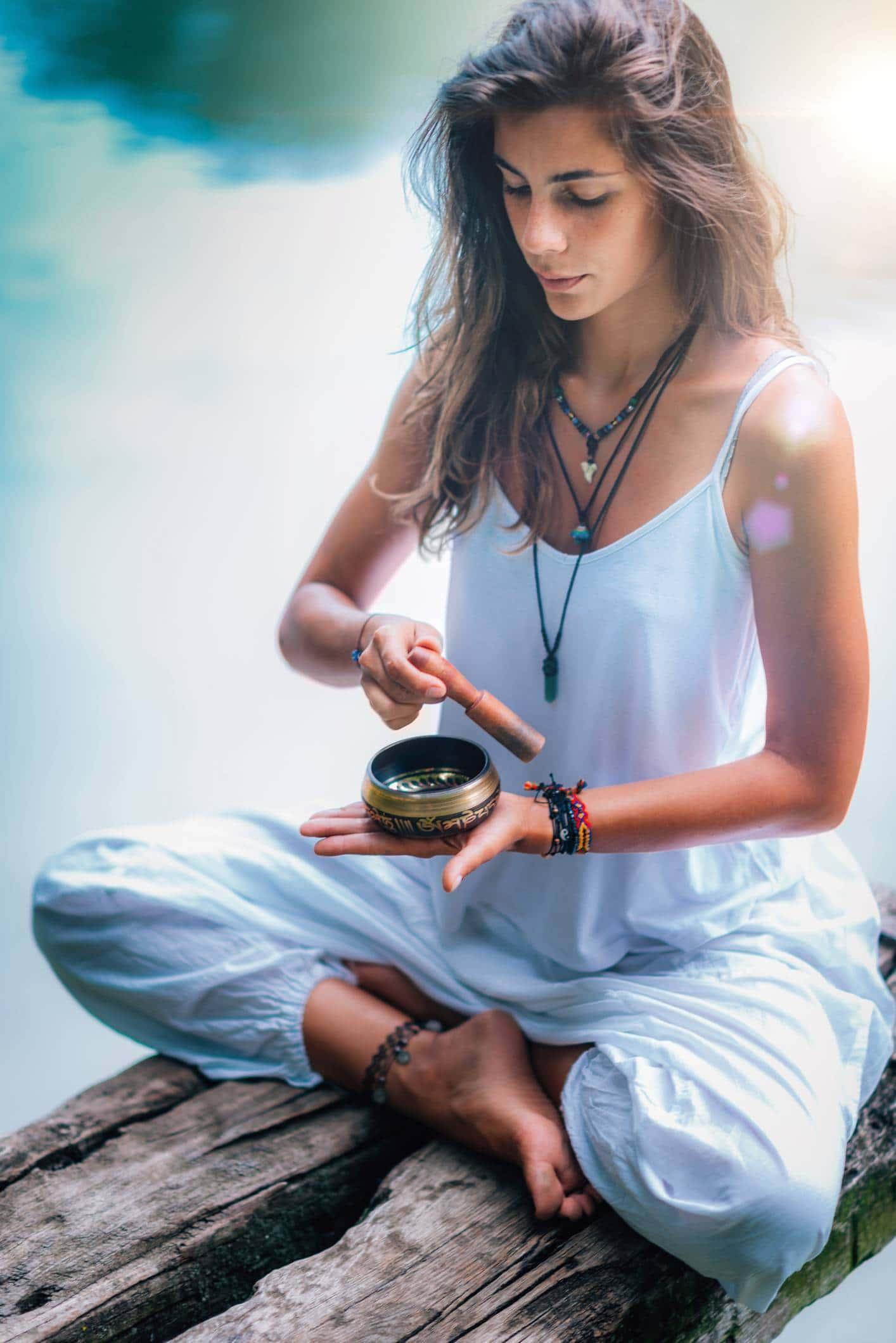 Une séance de méditation avec la musique