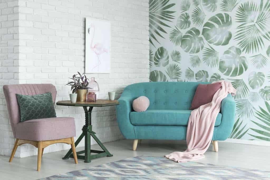 mobilier couleur pastel
